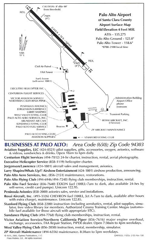 PAO Airport Businesses - California airports